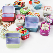 Cajas Plastico 16Piece/Lot Small Tin Box Delicate Food Container Mac Cosmetics Organizer For Girl Best Home Decoratin