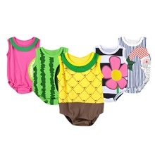 Lovely Infant Baby Suit Girl Boy Fruit Cartoon Pattern Romper Jumpsuit Toddler Apparel