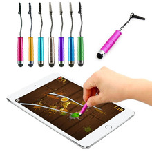 Hot selling For Smart Mobile Phone General capacitor pen handwritten bullet stylus Smartphone Touch Screen Dust Plug