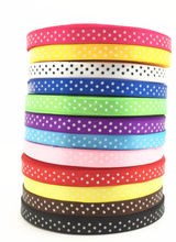 "Free shipping 10Yards 3/8"" 10mm satin ribbon printed white dots packing belt gift wedding party deco craft bows Garments Accesso"
