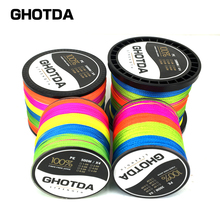 GHOTDA Brand Braided Fishing Line 300M/500M/1000M Multifilament PE 4 Strands Fishing Cord 18LB-80LB Strong Japan Technology(China)