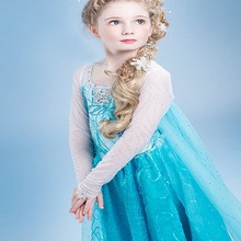 Hot Girls Dresses Party Carnival Dresses For Girls Elsa Anna Princess Clothes For Kids Snow Queen Girls Costume With Long Shawl