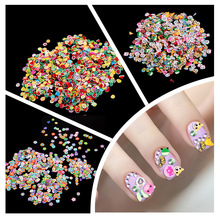 1000pcs Fimo Clay 3 Series Fruit Flowers Animals DIY 3D Nail Art Decorations Nails Art Decoration Sticker Design(China)
