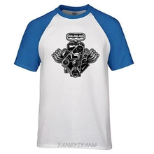 Car Engine Motor T-Shirt American Muscle Car Pistons Tee Shirt Gift for boys summer brand top tees man t shirt(China)