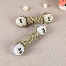 1 Piece 2017 New Cute Gags & Practical Jokes Dumbbell Toy Play With Pet Double Ball Rope Creative Personality Safe Durable