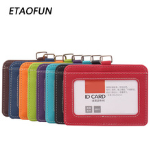 Etaofun Brand ID Badges Holders Unisex Comfortable Job Permit Case ID Badge Covers Bank Cards  Office Admission Without Lanyards