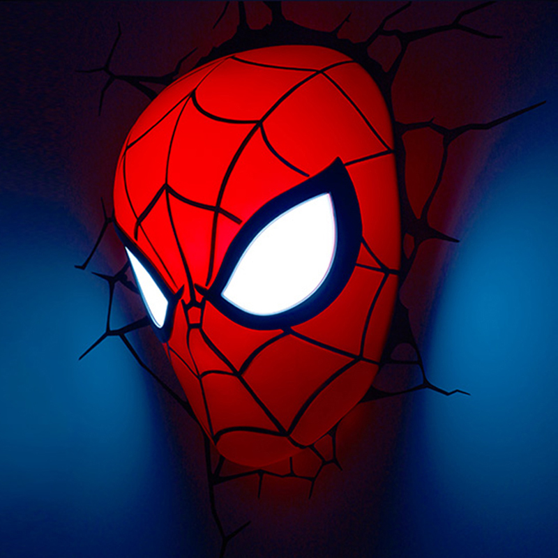 Iron Man Spider-Man Captain America 3D Led Night Light Creative Wall Lamp For Bedroom Living Room Home Decoration Kids Gift<br><br>Aliexpress