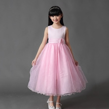 Fashion Ball Gowns for Children Light Blue Wedding Dresses for A 12 Year Ball Gown Dresses Size Ten for Little Girls Kids(China)