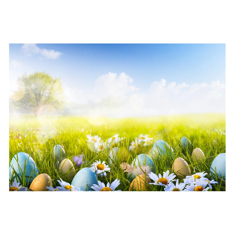 2.2MX1.5M For taking pictures there are beautiful flowers and colorful eggs happy Easter printed vinyl background GE-154<br><br>Aliexpress