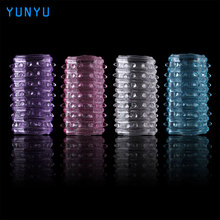 5 Pcs Adjustable Silicone Fancy Solid Condom Sex Games Must Sex Products Head To Penis Sex Products Cock Ring for Men
