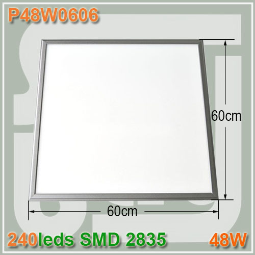 High power 600x600mm 48W Square led panel light Frosted cover SMD2835 Ceiling lamp 48w panel lights hanged wire optional<br><br>Aliexpress