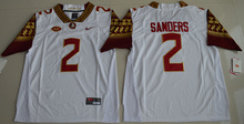 New Arrival High Quality Nike 2016 Florida State Seminoles Deion Sanders 2 College T-shirt Limited Jersey - White Size S,M,L,