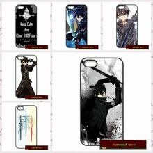 sword art online kirito Phone Cases Cover For iPhone 4 4S 5 5S 5C SE 6 6S 7 Plus 4.7 5.5     #HE0205