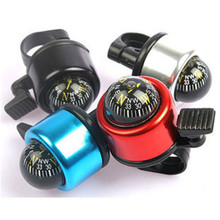 Bicycle Bell Horn Bike Alarm Sound With Compass Aluminum Alloy Bike Handlebar Ring Safety Metal Environmental Cycling BellOD0015(China)