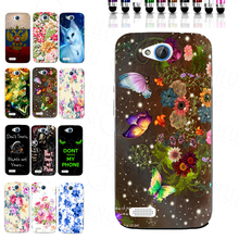 Luxury Flora Butterfly Case Print TPU Cover Bag Shell Housing for ZTE Blade Q Lux 3G 4G A430 With Free Stylus pen