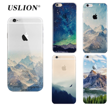 Ultrathin Soft TPU Scenery Painted Phone Case For iPhone 5 5s SE 6 6s 7 7 Plus Soft Silicone Cover Back Cases For iPhone 7Plus