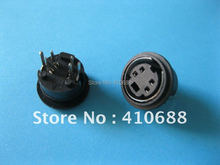 20 Pcs Per Lot Mini 4 Pin Circular DIN Connector Snap and Lock Vertical Mini-DIN Hot Sale High Quality