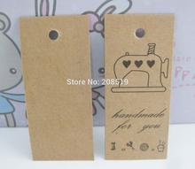 Model 02 Garment tags with sewing machine printing 50pcs/lot DIY decorative paper crafts scrapbooking(China)