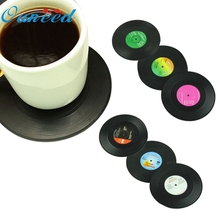 6 Pcs/ set Home Table Cup Mat Creative Decor Coffee Drink Placemat Tableware Spinning Retro Vinyl CD Record Drinks Coasters UY