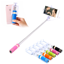 Buy Universal Self Selfie Stick Monopod iPhone 6 6s Plus Palo Selfie Remote Samsung Android IOS Camera Suporte Wired Selfie for $3.99 in AliExpress store
