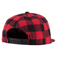 WuKe Plaid Snapback Hip Hop Cap Baseball Skateboard Hip Hop Cap Men Women Basketball Snapback Hiphop Size 55-60cm Black + red(China)
