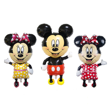 108*57cm large Cartoon Mickey Minnie Foil Balloons Birthday Party for Kids Baby Toys Decoration Globos Inflatable Air Ballons(China)