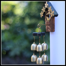 High Quality Dreamcatcher Wind Chimes Hanging Door Chimes With 6 Bronze Bell Creative Decoration Gift ElimElim(China)