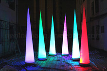 Free shipment 3m high party decoration inflatable cone with led lighting lamp