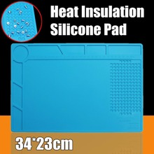 1pc Anti Static Solder Repair Heat Insulation Silicone Pad Desk Mat Maintenance Platform For Soldering Repair Station(China)