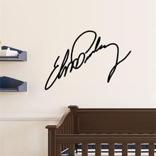 Famous Rock Star Elvis Presley Signature home decal wall sticker /black decor wallpaper/fans gifts adesivo de parede Elvis17