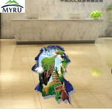 The new 3 d the sky floating bridge dolphins ground post beautiful bathroom sitting room decorate children room package mail(China)
