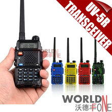 2x BaoFeng UV-5R Walkie Talkie Dual Band Transceiver 136-174Mhz & 400-520Mhz +1800mAH Battery Free Earphone UV5R 2pcs/lot