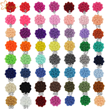 "60pcs/lot New Arrival Chic 1"" Tiny Felt Flower without clips Hair Accessories 2016 For Kids Hair pin for Infantile DIY Headbands"