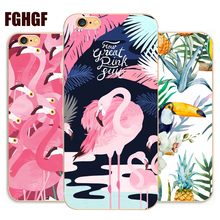 Fashion Flamingo Phone hard Case Cover For iphone 4 4s 5 5s se 6 6s plus 7 7plus 8 8plus x Case(China)