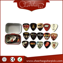 30pcs famous metal band guitar pick plectrum with double sides printing medium 0.71mm gauge(China)