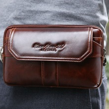 Buy 2018 New Men Oil Wax Genuine Leather Cowhide Clutch Bag Vintage Cell Phone Hip Bum Belt Pouch Fanny Pack Waist Wallet Purse Bags for $31.39 in AliExpress store