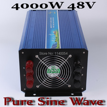 4000w 48v inverter,dc ac pure sine wave inverter 4000W,48V DC to AC100/110/120V or 220/230/240V Solar Wind Power Inverter 4000W