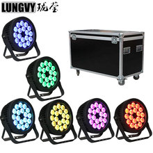 Free Shipping 6pcs/lot 18x18W RGBWA UV 6IN1 Led Par Party Lights Outdoor Led Par DJ Disco Light With Flight Case