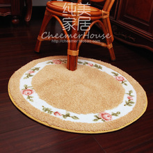Rustic 70cm circle carpet mats round carpet computer cushion swivel chair protection pad 90cm