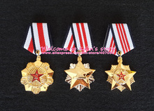 XDT0014 Full Set Chinese P L A Meritorious Service Medal Different classes of the Order of Merit Metal Badge