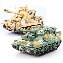 Universal wheel tank Military fan toys model Brinquedos Intelligent steering car Light Emitting Electric tank Electronic toy(China)
