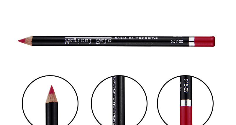 Magical Halo 12pcs/set Pro Waterproof Bright Pencil Lip Liner Pencil Makeup Cosmetic For Lips Long Lasting Lipliner Pen Lipliner 20
