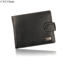 C.S.C Classic Alligator Men Wallets Designer 100% Genius Leather Coin Purses Holders Hasp Cow Leather Male Clutch Money Pocket