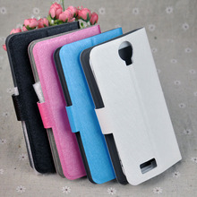 New Arrival For Prestigio 3503 Wize C3 Best Price  Silk Wave PU Leather Case Cell Phone Flip Flap Style Cover Free Shipping