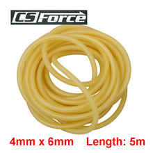 CS Force 4mm x 6mm Latex 5m Elasticity Tube Fishing Fumbled Rope Slingshot Rubber Latex Fitness CrossFit Survival Bands 4060
