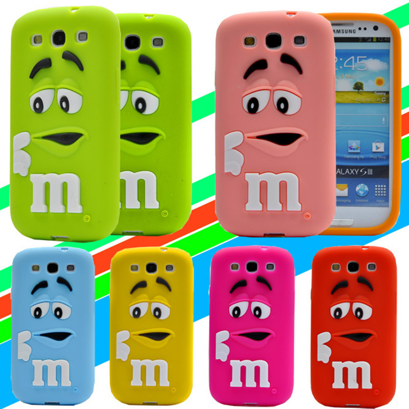 Cute Cartoon M M s Chocolate Silicone font b Case b font Cover for font b