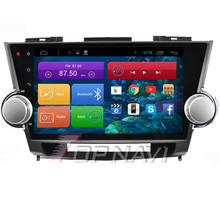 10.2'' Quad Core Android 4.4 Car Multimedia for Highlander 2009 2010 2011 2012 2013 2014 2015 With 16GB Nand Flash Memory Map