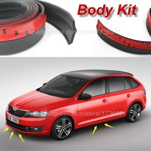 Car Bumper Lip Deflector Lips For Skoda Rapid / Front Spoiler Skirt For Auto to Car Tuning View / Body Kit / Strip