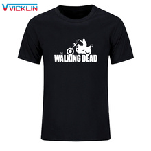 The Walking Dead men t shirt 2017 new summer cotton short sleeve high quality t-shirt hipster men fashion tops tees plus size