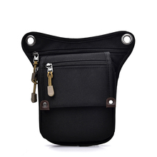 Fashion Men Canvas drop waist bags Leg pack bag Men belt bicycle and motorcycle Money Belt pack For Work Black hot sale(China)